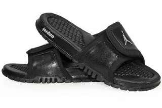 NIKE JORDAN HYDRO 2 Black Silver Sandal 312527 001 Men