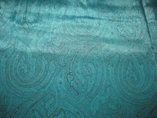 FABRIC,VINTAGE RAYON BLUE AND BLACK PAISLEY PRINT 1940S