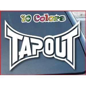 Tapout Logo Car Window Decal Sticker 10 Wide White