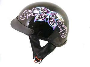 Half Open Face Helmet Motorcycle DOT Scooter Moped L