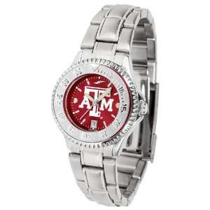 Texas A&M Aggies TAMU NCAA Womens Steel Anochrome Watch