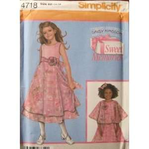 PATTERN 4718 CHILDS DRESS AND CAPELET SIZE AA 3 6 Kitchen & Dining