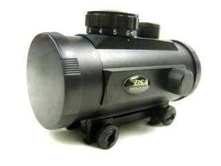 BSA 40mm tactical Red/Green Dot rifle pistol Scope sight 20mm Weaver