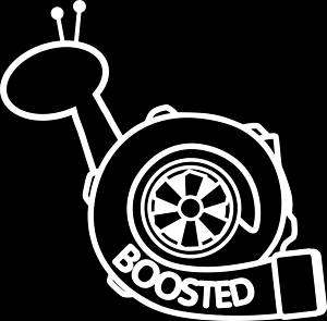 inch BOOSTED SNAIL RACING TURBO STI DECAL/STICKER