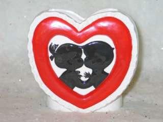 Vtg Rubens Valentine Sweetheart Kissing Kids Planter T16