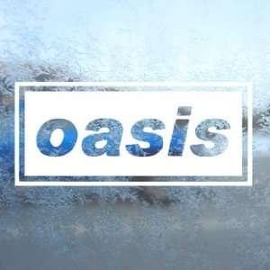 Oasis White Decal English Rock Band Laptop Window White