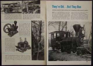 Antique Engines Steam Locomotive 1954 Willock pictorial
