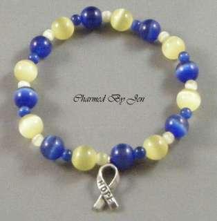 DOWN SYNDROME Awareness Cats Eye Bracelet w/ Charm