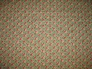 FLORAL FEEDSACK PRINT FRENCH COTTON FABRIC BOUSSAC SEAFOAM 3+ Y