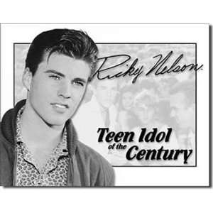Ricky Nelson Tin Metal Sign  Teen Idol of the Century