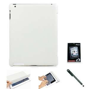 White Folio Styled Durable Faux Leather Shell Case and