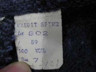 vtg 50s Ladys Black Purple Large Plaid Full Swing Skirt