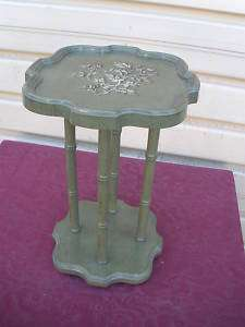 46645 VINTAGE PAINT DECORATED BRANDT PLANT STAND TABLE