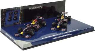 MINICHAMPS 1/43 2009 RED BULL RACING F1 TEAM RB5 CHINA 1 2 FINISH