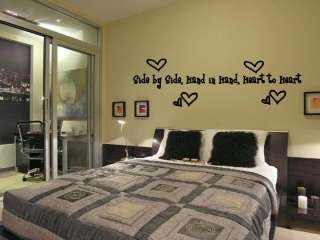 Side by Side Hand Love Heart Wall Art Decal Decor 36