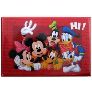 Disney Mickey Mouse and Friends Inside Red Frame Magnet