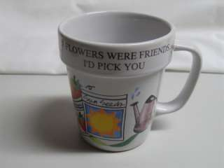 Ceramic Flower Pot Friend Coffee Mug Stanley Papel
