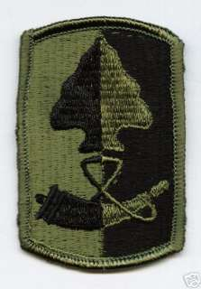 ARMY PATCH 187th INFANTRY BRIGADE SUBDUED