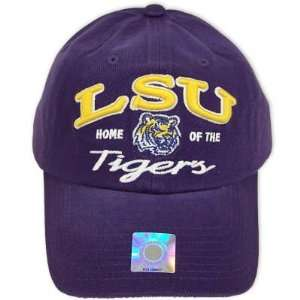 LSU TIGERS OFFICIAL NCAA LOGO COTTON HAT CAP Sports & Outdoors