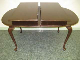 Ethan Allen Georgian Court Cherry Oval Cabriole Table 225 Finish