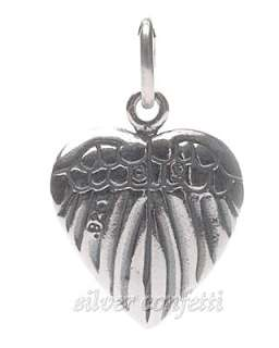 Sterling Silver ANGEL Framed by HEART WINGS Charm