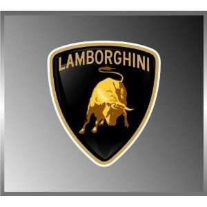 4 Lamborghini Lambo Emblem Vinyl Decal Bumper Sticker 2 X