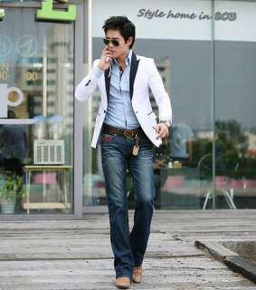 Mens Sexy Casual Stunning Slim Blazer Short Coat One Button Fit Jacket