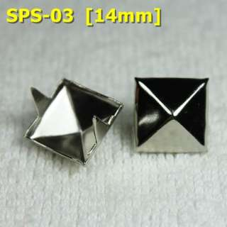 11mm 14mm Silver Pyramid Studs Sports Punk Rock Biker Spikes