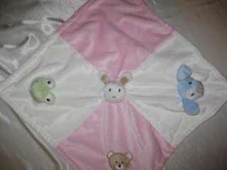 Blankets & Beyond 4 best friends dog bunny frog bear lovey nunu