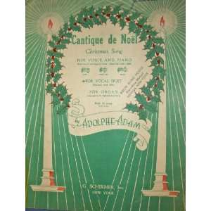 Cantique de Noel (Christmas Song): Adolphe Adam, arranger