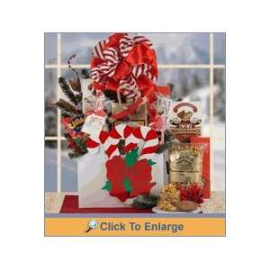 Candy Cane Holiday Christmas Gift Basket