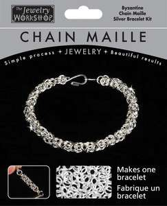 Chain Maille Byzantine Bracelet Kit ~ SILVER