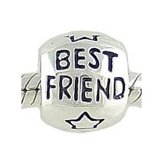 Sterling Silver BEST FRIEND BEAD fits Pandora Chamilia Biagi Charm