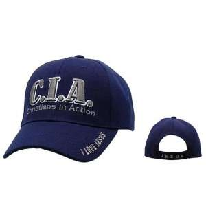 in Action C.I.A. I Love Jesus Baseball Cap/ Hat