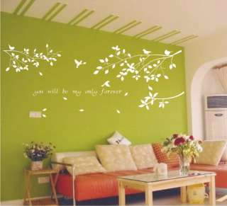 Birds and branches Vinyl Wall Art Deco Sticker Decal