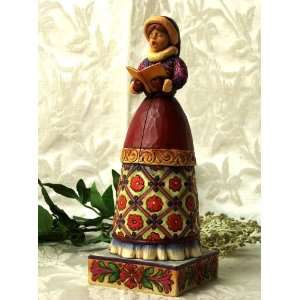 ENESCO Jim Shore Caroler   Girl Home & Kitchen