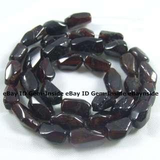 6x14mm faceted freeform red Garnet gemstone beads 14