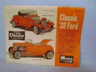 RARE 1963 MONOGRAM THE BIG DEUCE HUGE 1/8 SCALE CLASSIC 32 FORD