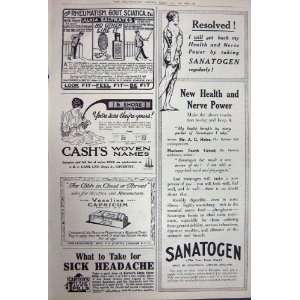 Advertisement 1922 Austin Cars Sanatogen Carters Pills
