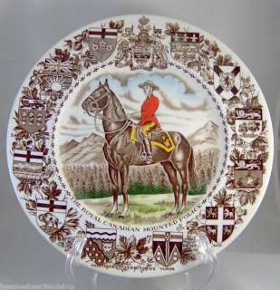 Wood & Sons England Plate Royal Canadian Mounted Police