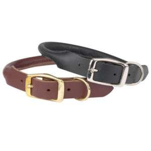 Casual Canine Round Rolled Leather Dog Collar 10 26