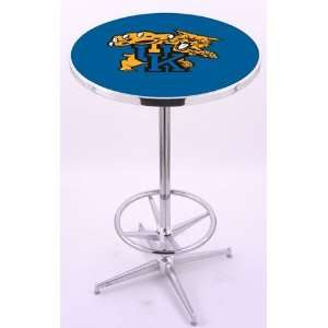 Kentucky Wildcats UK Chrome Pub Table With Foot Rest