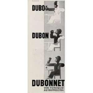 French Ad Dubonnet Quinquina Cassandre Art Deco   Original Print Ad