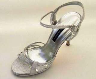 Caparros Kerry Sandals Women SIlver Glow High Heels Wedding Shoes New