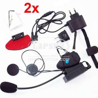 Helmet Intercom Interphone Headsets Talk FM Radio 4 Channels US
