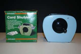 Vintage Johnson Card Shuffler with Original Box 1982