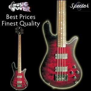 Spector Legend Classic Black Cherry 4 String Bass Guitar   Free Case