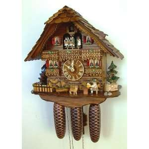 Cuckoo Clock, Black Forest, Beer Drinker, Model #8TMT 6423