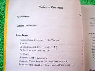 1955 CATERPILLAR D8 CRAWLER TRACTOR SERV + PARTS MANUAL