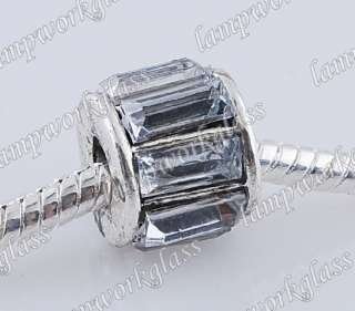 30pcs Tibetan silver European spacer Bead fit bracelet